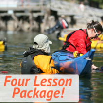 4 lesson sea kayaking essentials package