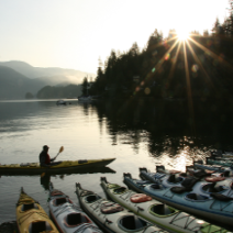 Early morning kayaks in deep cove