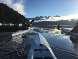 Morning surfski paddle in Deep Cove