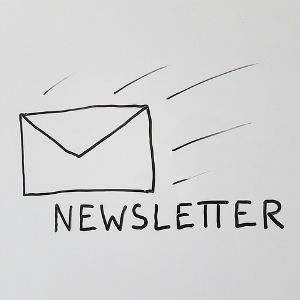 Image of a letter with NEWSLETTER caption
