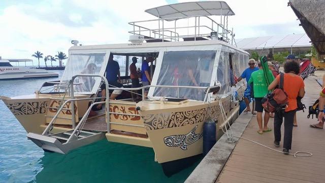 Catamaran to Taha'a