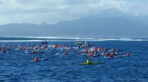 Start of the mara'amu surfski race
