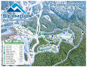 Mt Seymour snowshoe trailmap