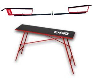 Wax table and profiles for cross country skis