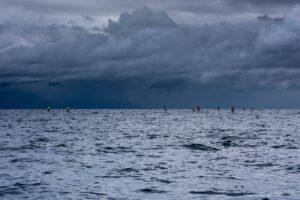 Salish Sea SUP Crossing Team paddling