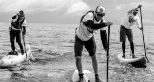 Evan stand up paddling