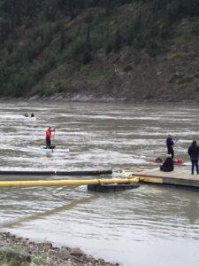 Jason Crosses the finish line at the Yukon River Quest
