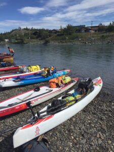 Start line of the Yukon River Quest