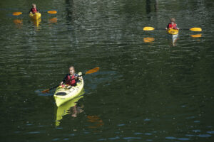 Kids Camps - three kayaks