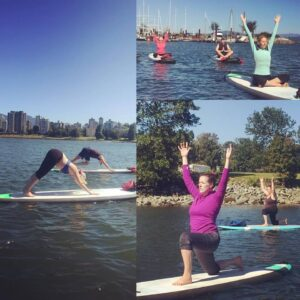 Kristy Wright teaches SUP Yoga