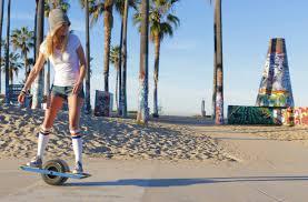 Onewheel on boardwalk