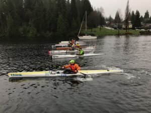 Practicing starts in Deep Cove