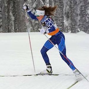 Annika Richards nordic ski race