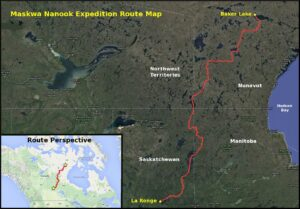 Frank Wolf expedition map