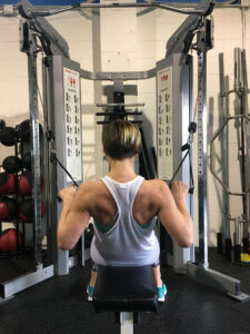 Amy at Elevate Gym working out