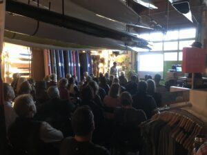 Norm Hann talk at Deep Cove Outdoors