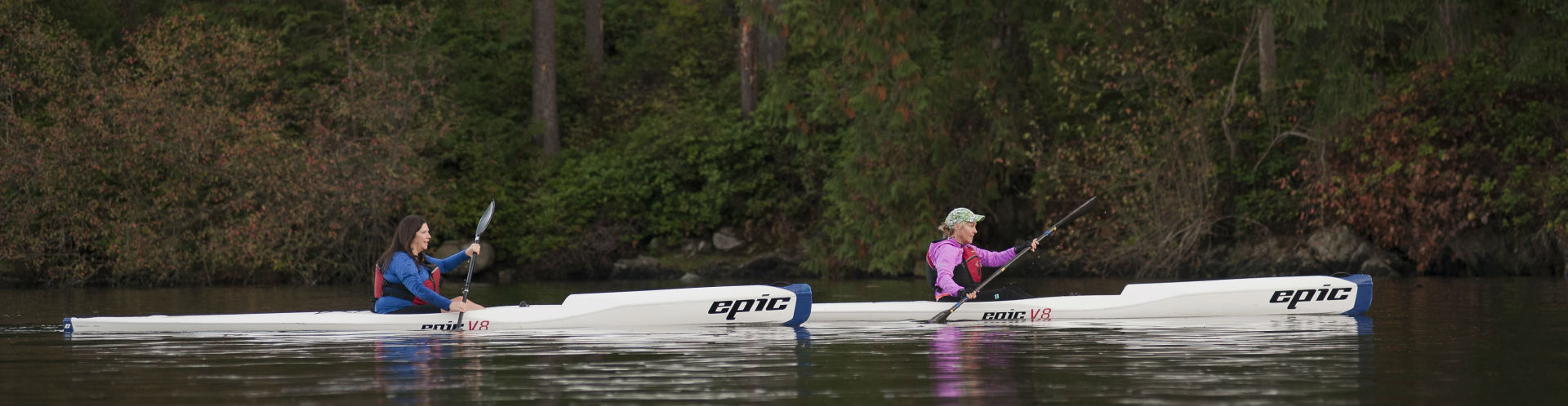Surfskiing in Deep Cove