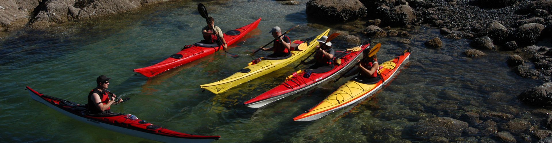 Private kayaking lessons in deep cove
