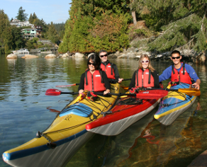 group kayaking tour
