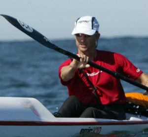 Kenny Howell paddling an Epic V10 surfski