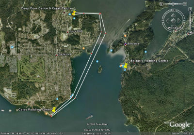 Roche Point Return Race Route Map