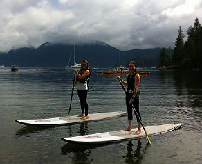 SUP instructor teaching