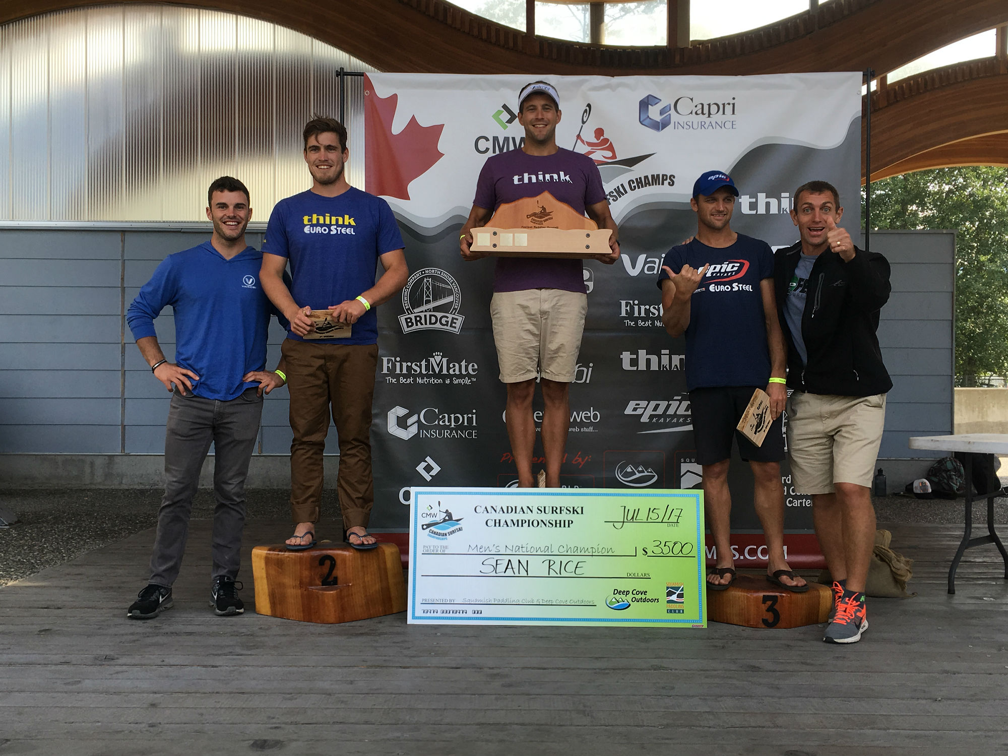 Canadian Surfski Champs Podiums