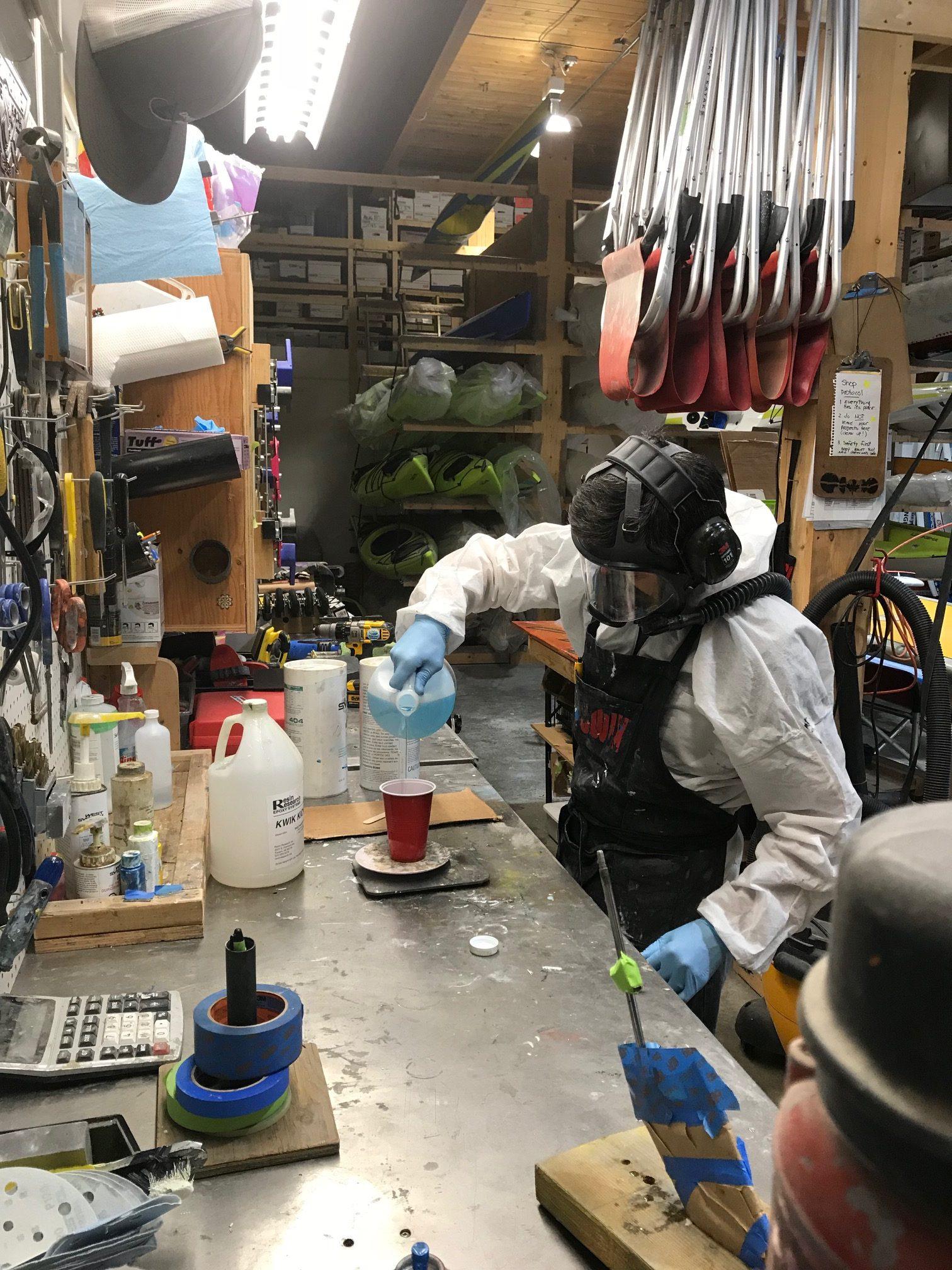 Marty in his repair workshop